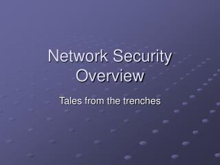 Network Security Overview