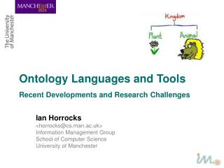 Ontology Languages and Tools
