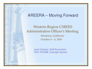 western region csrees administrative officer s meeting