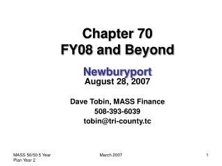 Chapter 70  FY08 and Beyond  Newburyport