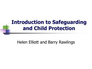 Introduction to Safeguarding and Child Protection