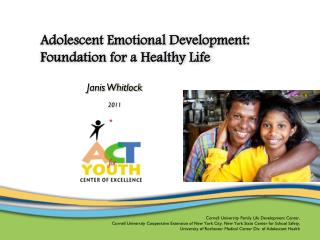 adolescent emotional development:  foundation for a healthy life