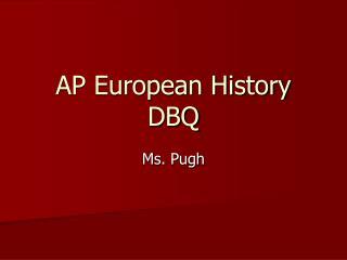 AP European History DBQ