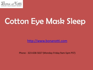 Cotton Eye Mask Sleep