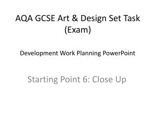 AQA GCSE Art  Design Set Task Exam