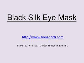 Black Silk Eye Mask