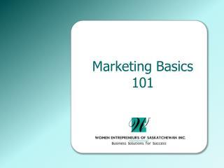 Marketing Basics 101