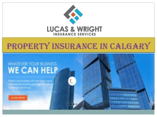 Property Insurance in Calgary