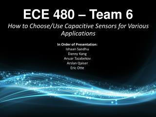 ECE 480   Team 6