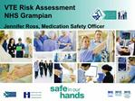 VTE Risk Assessment NHS Grampian