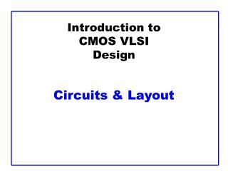 introduction to cmos vlsi design