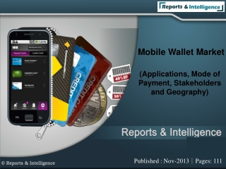 Mobile Wallet Market (Applications, Mode of Payment, Stakeho