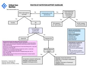 ROUTES OF NUTRITION SUPPORT GUIDELINE