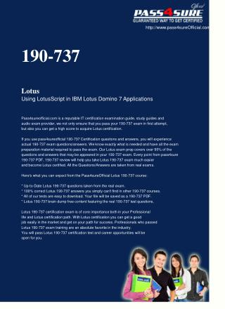 download 190-737 exam