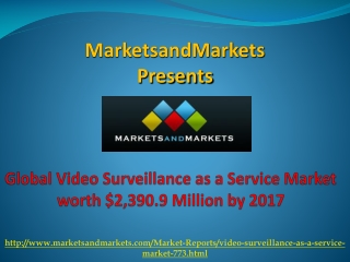 Video Surveillance as a Service Market by 2017
