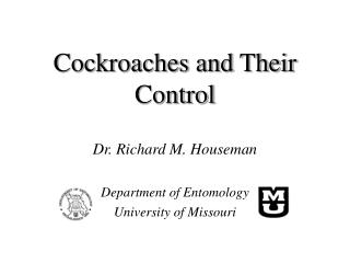 Cockroaches and Their Control