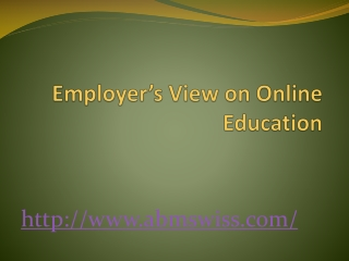 Employer's view on online education
