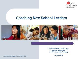 Coaching New School Leaders