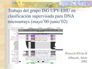 Trabajo del grupo ISG UPV-EHU en clasificaci n supervisada para DNA microarrays mayo 00-junio 02
