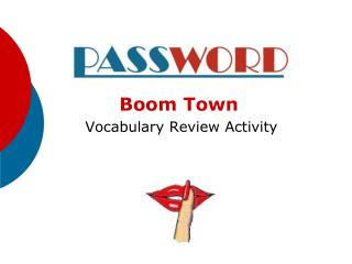 Boom Town  Vocabulary Review Activity