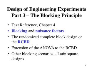 Design of Engineering Experiments Part 3   The Blocking Principle