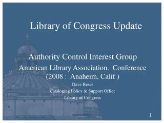 Library of Congress Update