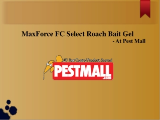MaxForce FC Select Roach Bait Gel-1box/4tubes