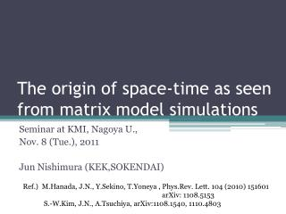 The origin of space-time as seen from matrix model simulations