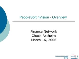PeopleSoft nVision - Overview