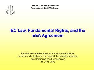 Prof. Dr. Carl Baudenbacher President of the EFTA Court