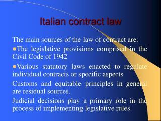 Italian contract law