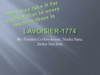 Lavoisier-1774