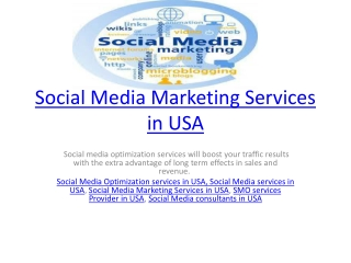 Social Media Marketing Services in USA