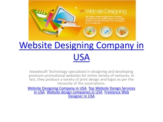 Website Designing Company in USA