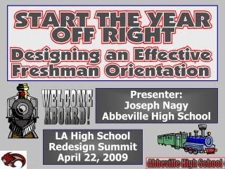 LA High School Redesign Summit April 22, 2009