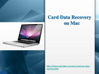 Easy way to recover data from memory card on Mac