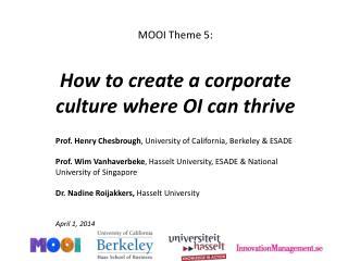 Innovation Management-Open Innovation management Culture
