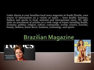 Revista Brasileira NOS EUA
