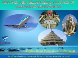 Cheapest Flight Tickets from Bangalore to Srinagar