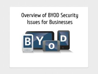Overview of BYOD Security Issues for Businesses