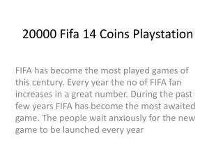 20000 Fifa 14 Coins Playstation