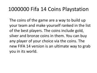 1000000 Fifa 14 Coins Playstation