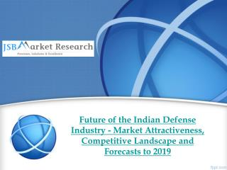 Future of the Indian Defense Industry - Market Attractivenes