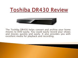 Toshiba DR430 Review