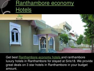 Affordable Ranthambore economy Hotels