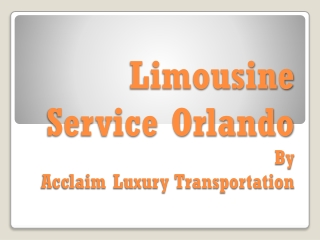 limo rental Orlando
