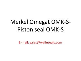 Merkel Omegat OMS-S - OMEGAT OMS-S Rod Seal Manufactur.