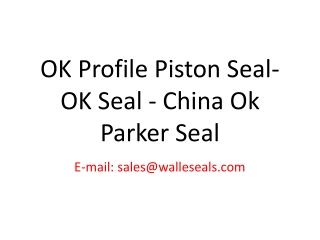 OK Profile Piston Seal-OK Seal - China Ok Parker Seal