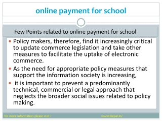 online payment for School  facilitates the parents from tens