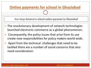 Best portal for Online payments for school in Ghaziabad